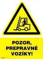 1199 5 S Pozor, prepravné vozíky ! A5 samolepka