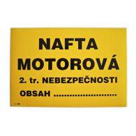 I 169 S Nafta motorová A5 samolepka