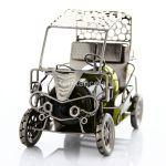 98174 Kovový stojan na víno, golfové auto