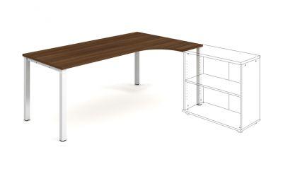 UE 1800 L pracovný stôl UNI lavý 180x75,5x120 (80x40) cm s prechodkami