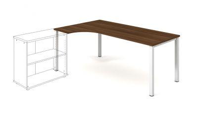 UE 1800 P pracovný stôl UNI pravý 180x75,5x120 (80x40) cm s prechodkami