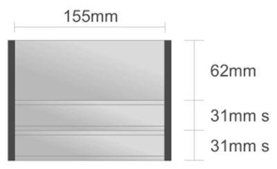 Ds110/BL nástenná tabuľa 155x124 mm design Economy